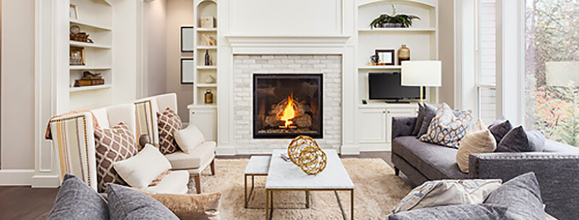 gas fireplace installation for an existing chimney
