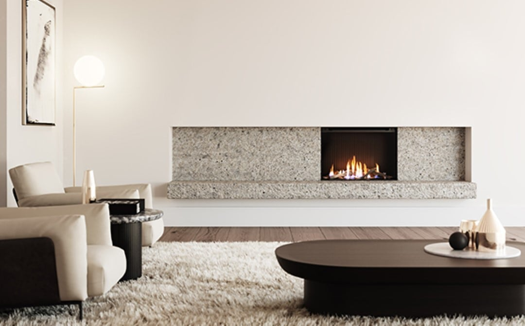 gas log fireplace planning and design service for builders and architects