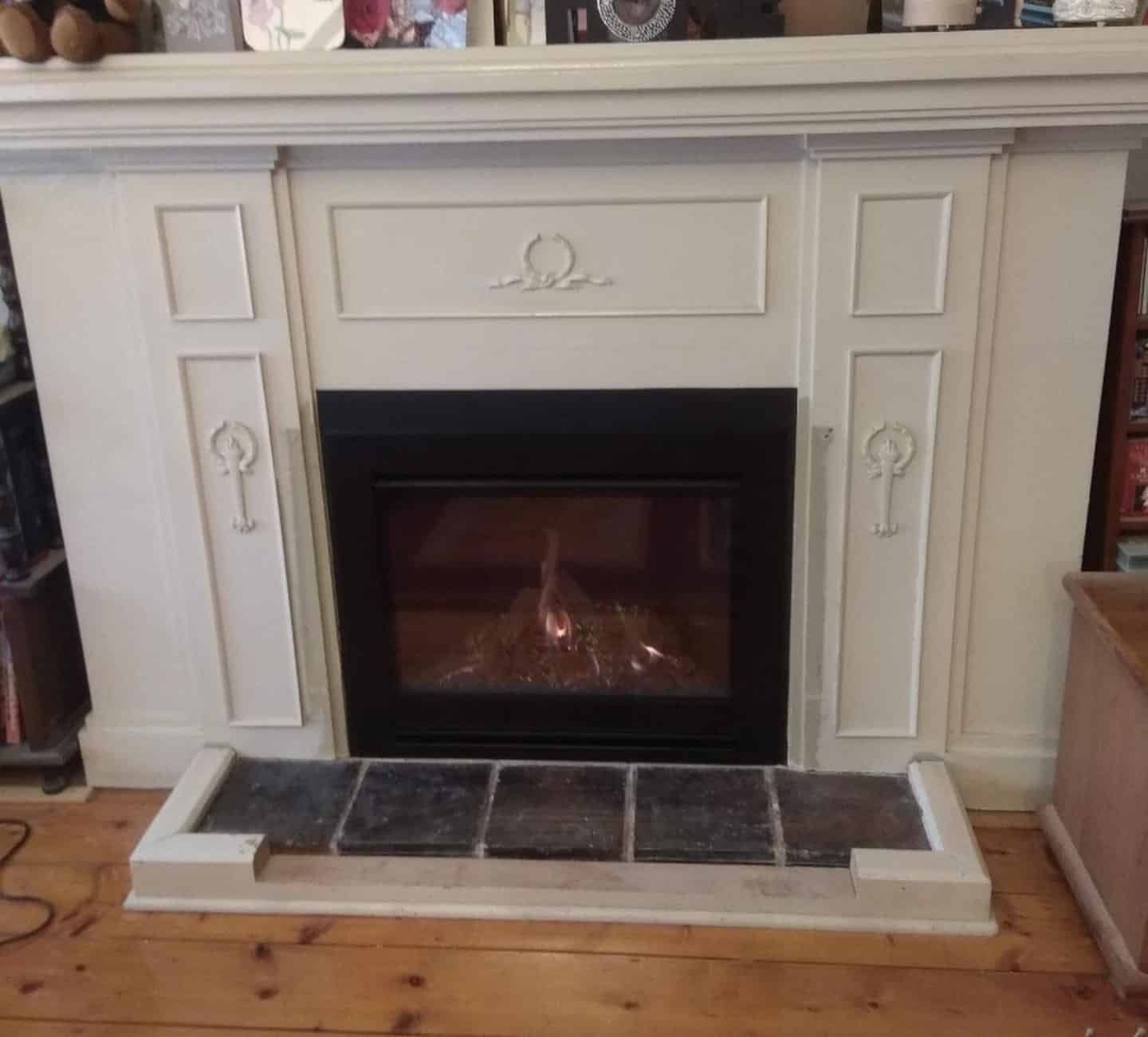 Escea DF Series within a Victorian home, single-sided gas fire.